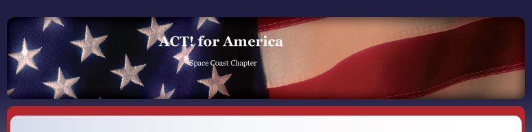 ACT! for America - Space Coast Chapter
